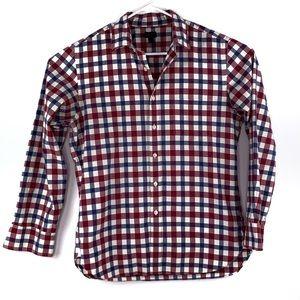 J. Crew Plaid Checked Button Down Shirt Medium